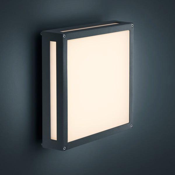 Záhradné nástenné svetlo Newa Antracit, 30x30 cm