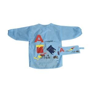 Modrá zásterka pre deti na maľovanie Incidence ABC
