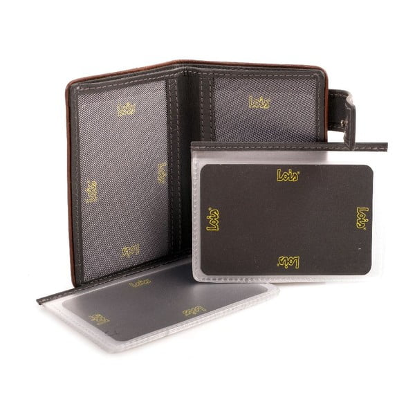 Kožená peňaženka Lois Jeans Old, 7x10 cm