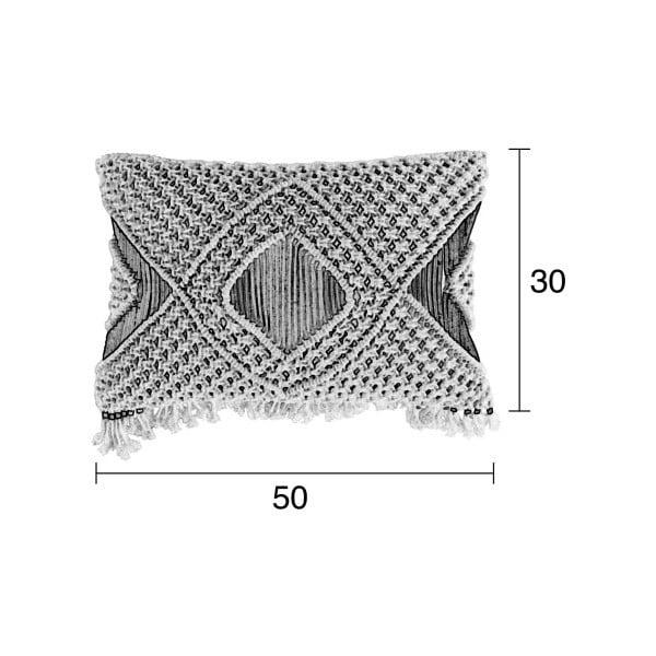 Krémový vankúš s výplňou Zuiver Evi, 50 × 30 cm