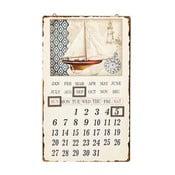 Nástenný kovový kalendár Novita Spinnaker, 30 x 50 cm