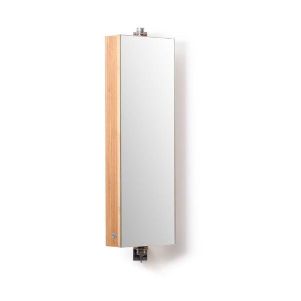 Kúpeľňová skrinka so zrkadlom Wireworks Domain Bamboo, výška 71cm