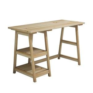 Pracovný stôl z borovicového dreva Perla Maple, 73,5 × 120 cm