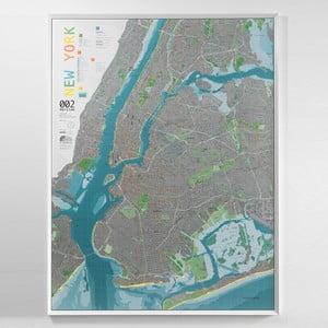 Magnetická mapa New York City Street Map, 130×100cm