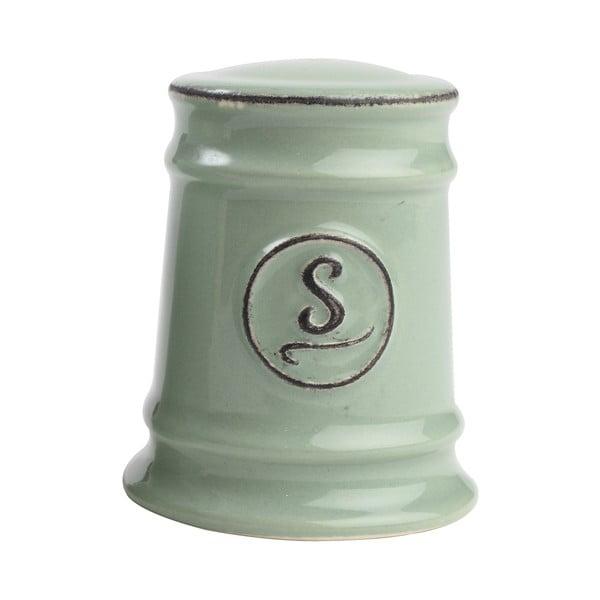 Zelená porcelánová soľnička T&G Woodware Pride of Place