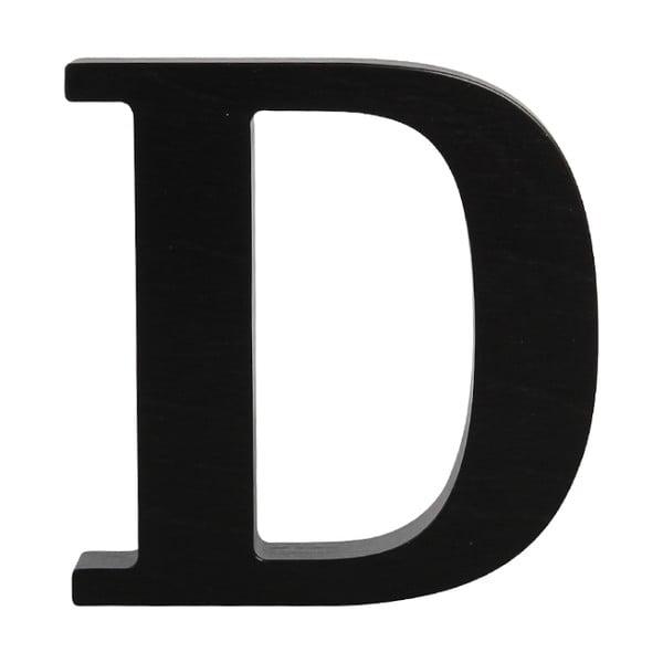 Čierne drevené písmeno Typoland D