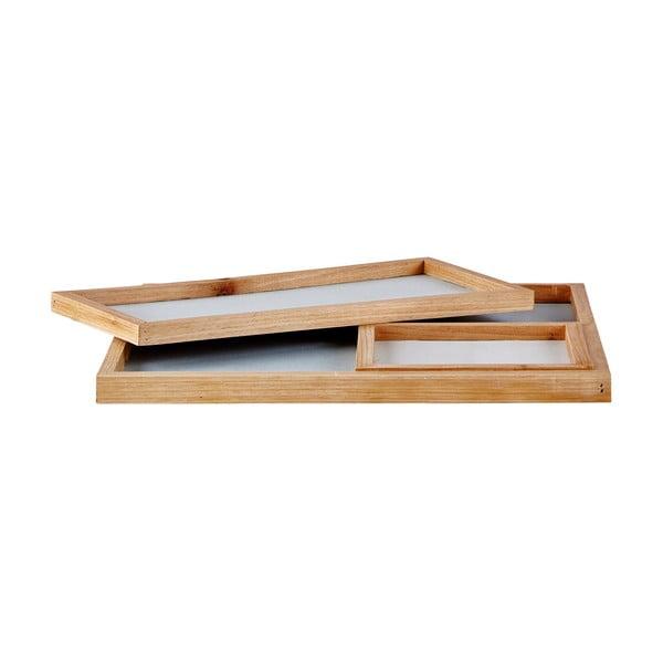 Sada 3 mramorových podnosov Ocean Blue Holz