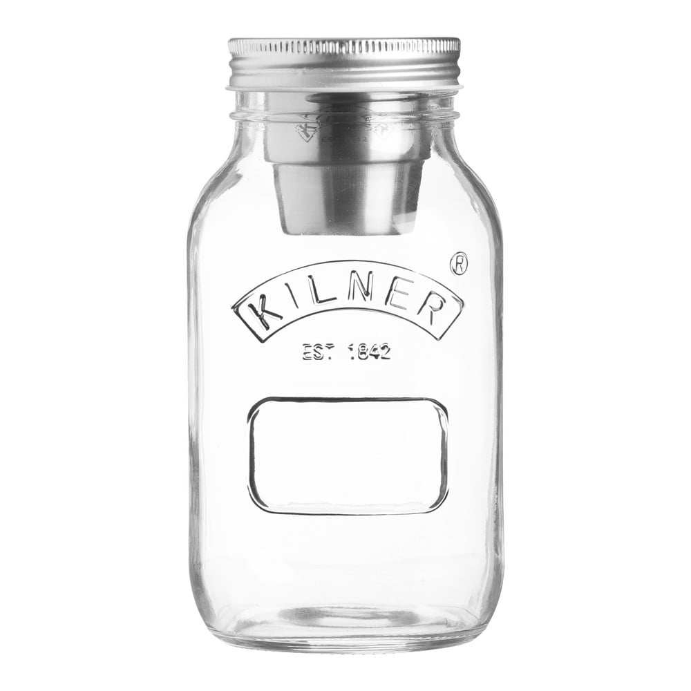 Cestovné sklenené poháre na jedlo so sebou s miskou na dresing, 1 l