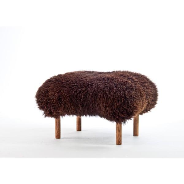 Stolička z ovčej kože Bonwen Chocolate