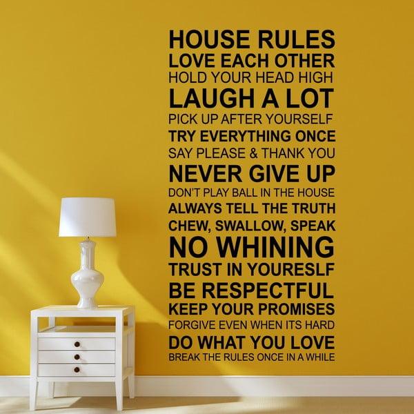 Samolepka na stenu Domáce pravidlá