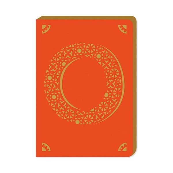 Linajkový zápisník A6 s monogramom Portico Designs O, 160stránok