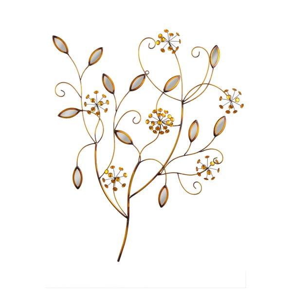 Nástenná dekorácia Bronze Flowers, 84x68 cm