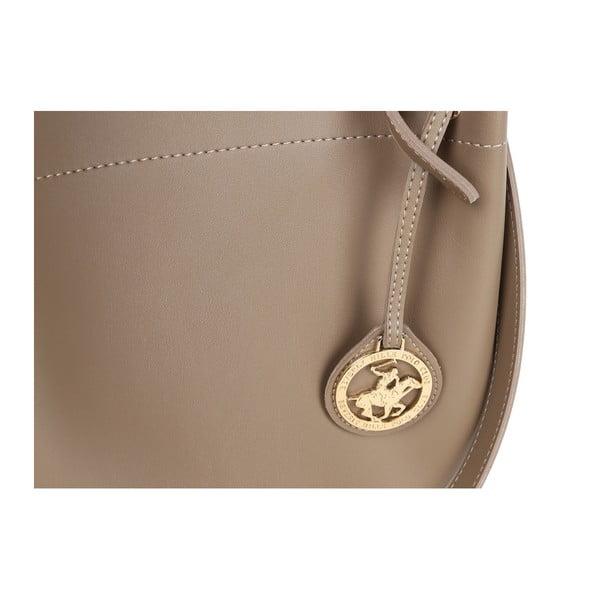 Sivohnedá kabelka z eko kože Beverly Hills Polo Club Amy