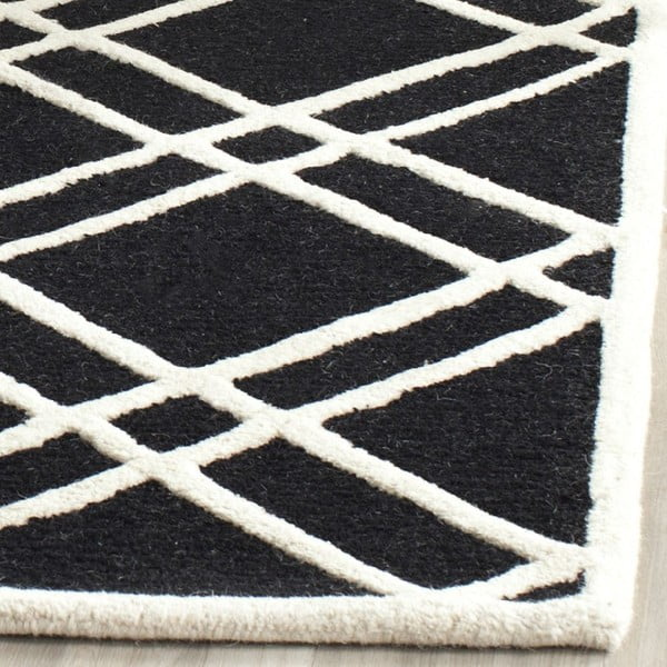 Vlnený koberec Mati Black, 152x243 cm