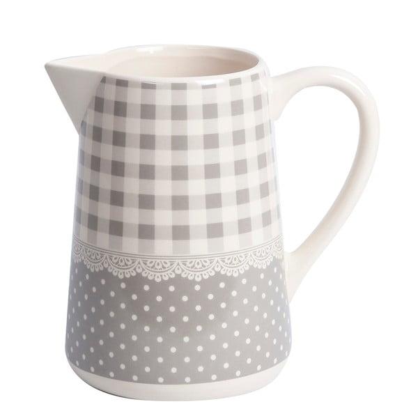 Džbánik Grey Dots&Checks, 19 cm