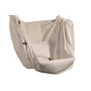 Krémová hojdačka z bavlny pre dospelých so zavesením do stropu Hojdavak Maxi