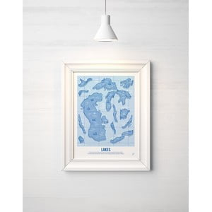 Farebný plagát Follygraph Lakes Blue, 30x40cm
