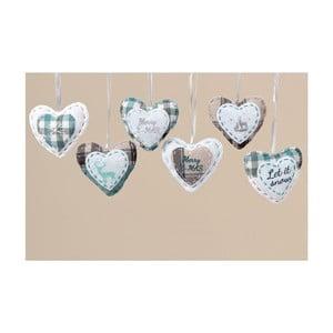 Súprava 6 ks závesných dekorácií Cozy Heart