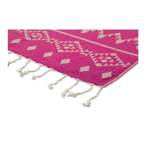 Hamam osuška Carpet Fuchsia, 100x180 cm