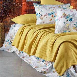 Sada posteľnej bielizne zo 100% bavlny Marie Lou Garden Mustard