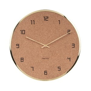 Korkové nástenné hodiny Karlsson Modest, ⌀ 40 cm