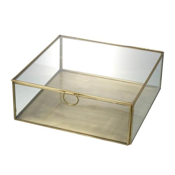 Sklenený box Parlane Gold Glass, 24 cm
