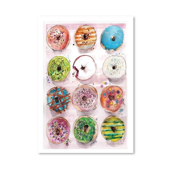 Plagát Donuts, 30x42 cm