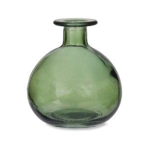 Zelená guľatá váza z recyklovaného skla Garden Trading Green, ø 11 cm