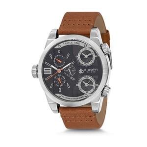 Pánske hodinky s hnedým koženým remienkom Bigotti Milano Milan