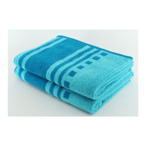 Set 2 osušek Blue, 70x140 cm