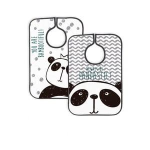 Sada 2 podbradníkov Little Nice Things Panda