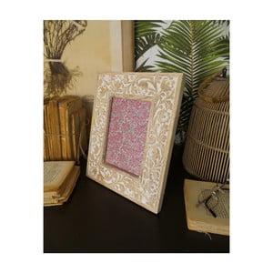 Sada 2 rámčekov z mangového dreva Orchidea Milano Classic, výška 28 cm