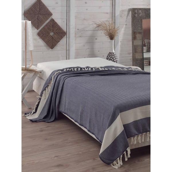 Prikrývka na posteľ Baliksirti Dark Blue, 200x240 cm