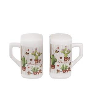 Keramická soľnička a korenička Kasanova Cactus