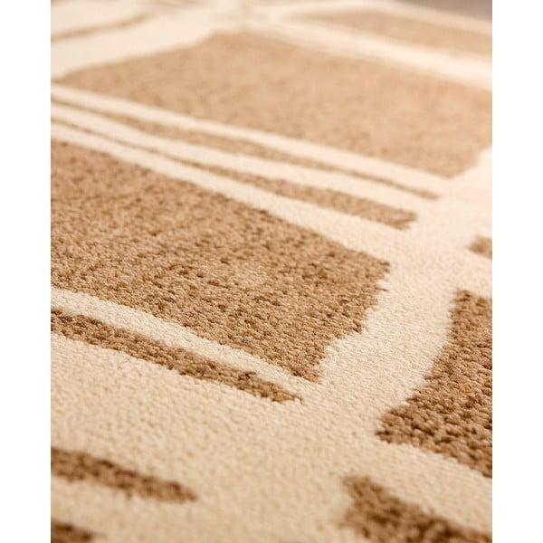 Vlnený koberec Tattoo no. 105, 120x160 cm, béžový