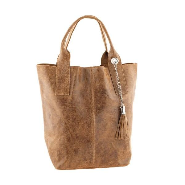 Medovohnedá kožená kabelka Ore Diece Laura