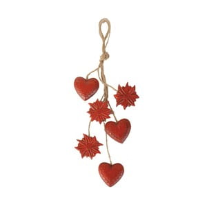 Závesná dekorácia Antic Line Hearts