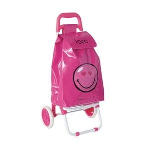 Nákupná taška pre deti s kolieskami Smiley Love