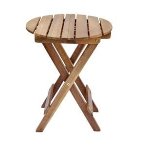 Okrúhly odkladací stolík z agátového dreva SOB Garden