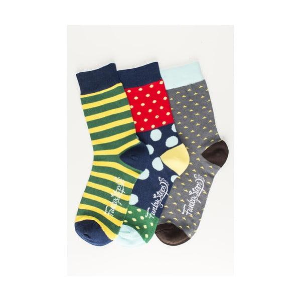 Sada 3 párov unisex ponožiek Funky Steps Evana, veľkosť 39/45