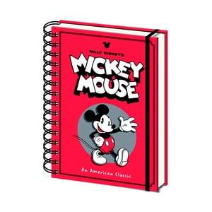 Linajkový zápisník A5 Pyramid International Mickey Mouse, 80 strán