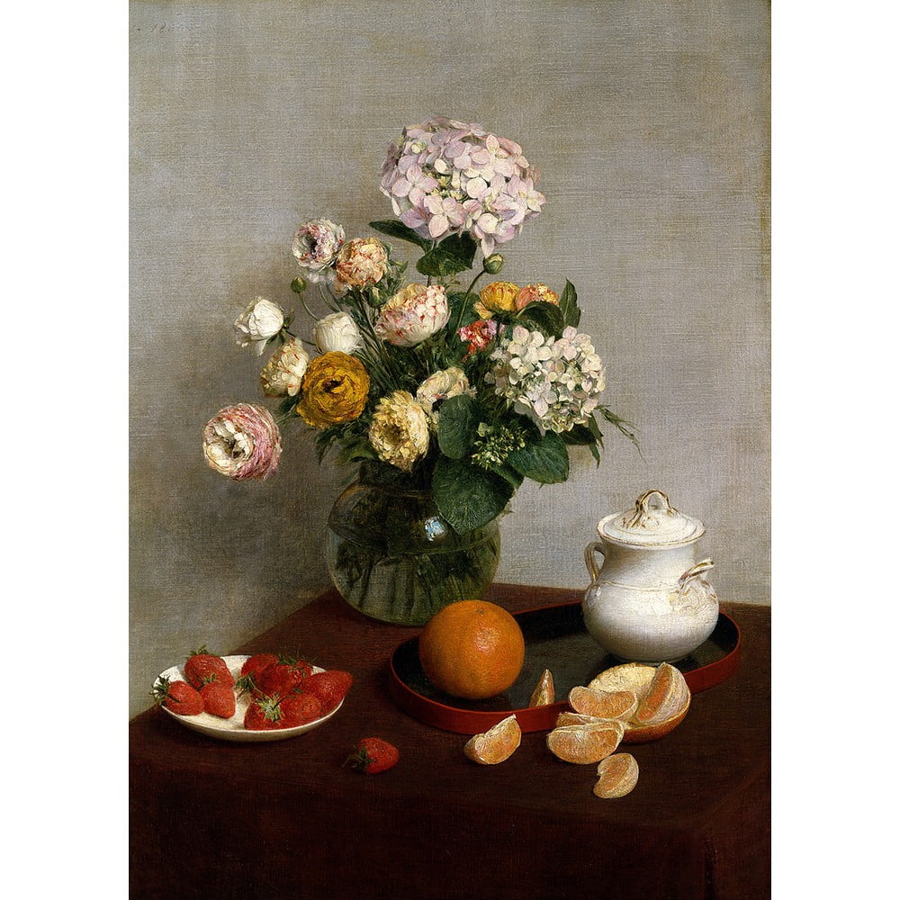 Reprodukcia obrazu Henri Fantin-Latour - Flowers and Fruit 45 × 60 cm