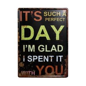 Ceduľa Perfect Day, 30x40 cm
