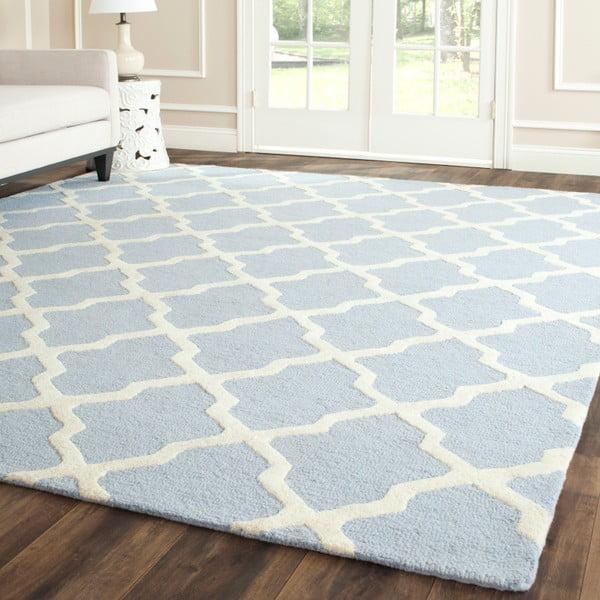 Vlnený koberec Ava Baby Blue, 121x182 cm