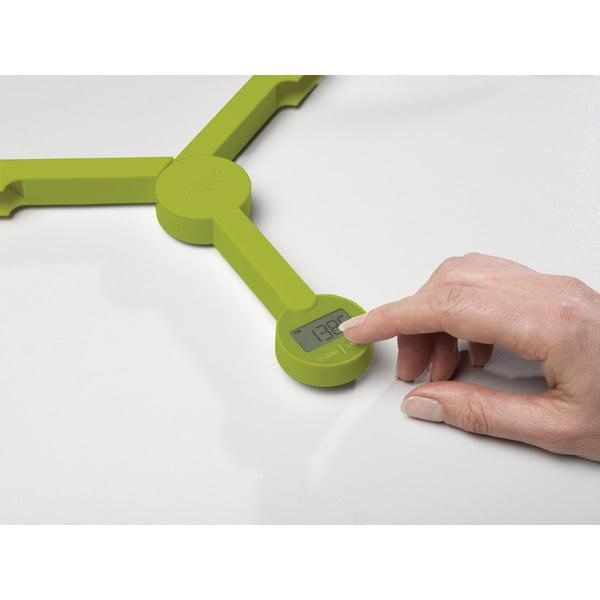 Zelená skladacia digitálna kuchynská váha Joseph Joseph TriScale