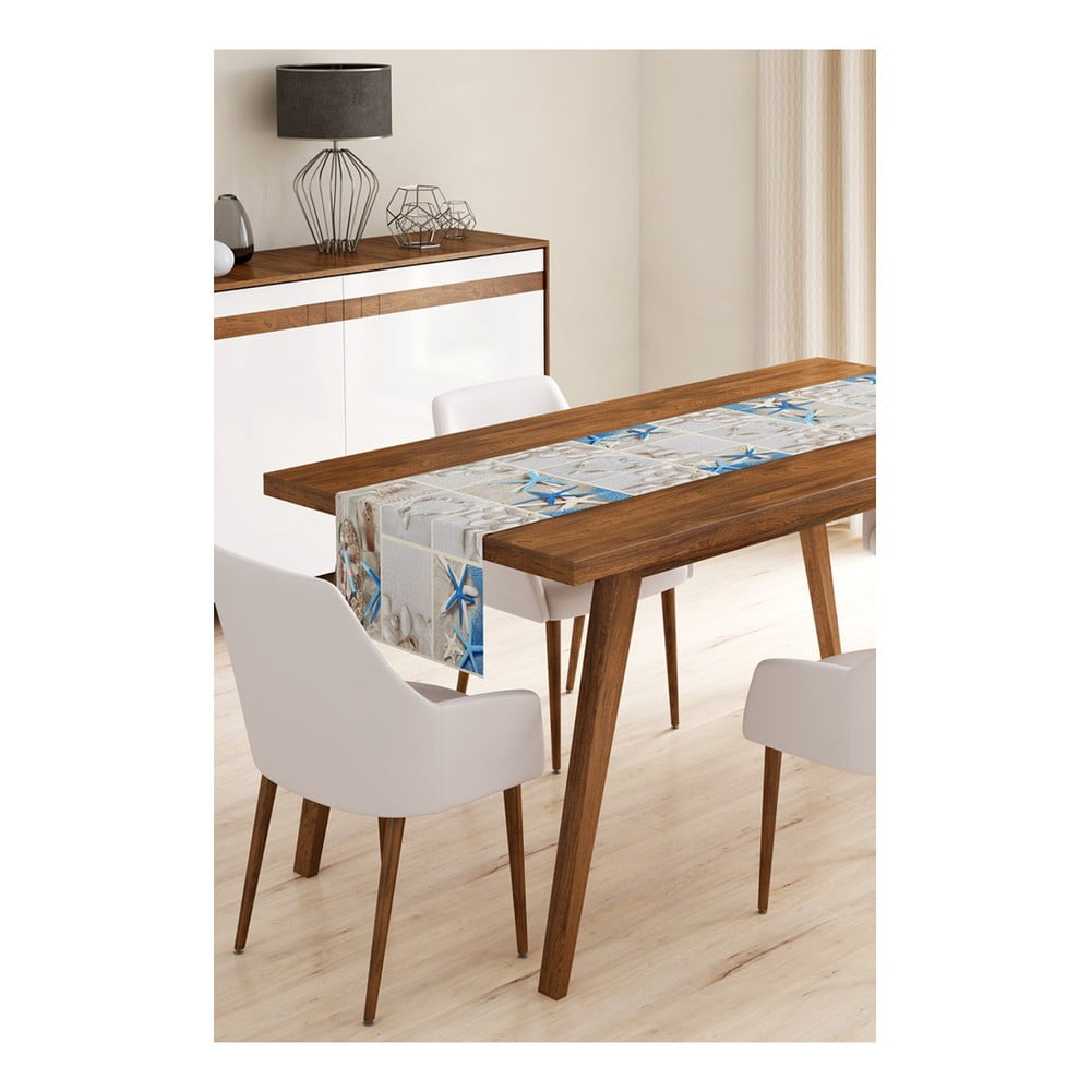 Behúň na stôl z mikrovlákna Minimalist Cushion Covers Sea Life, 45 × 145 cm