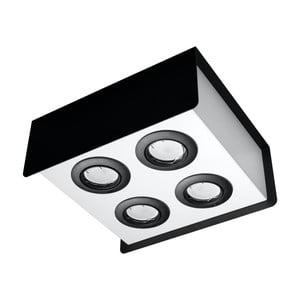 Čierno-biele stropné svietidlo Nice Lamps Sain Quatro