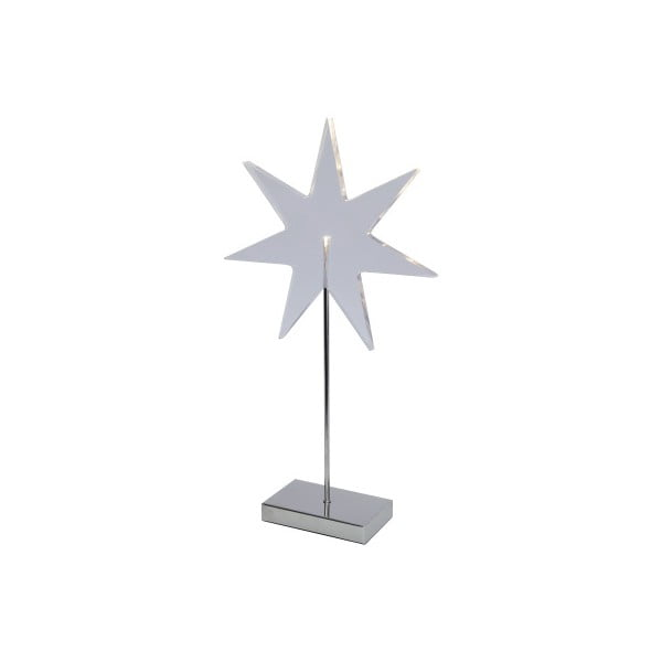 Svietiaca hviezda so stojanom Best Season Star Silver