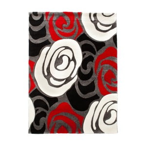 Červeno-čierny koberec Tomasucci Rose, 140 x 190 cm