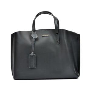 Čierna kožená kabelka Luisa Vannini Hailey